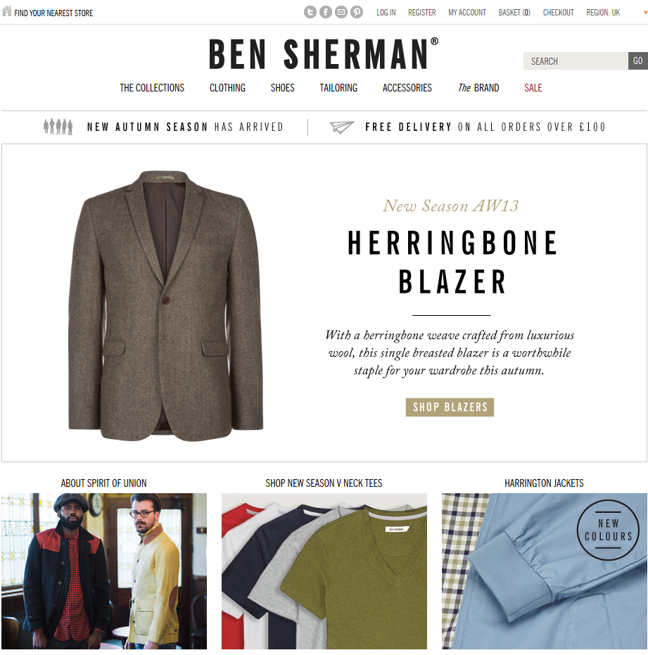 Ben Sherman focuses on only one offer