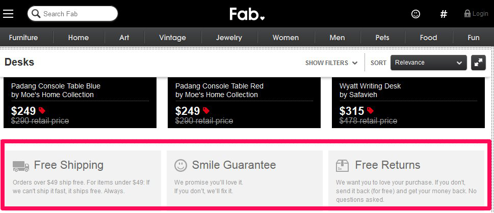 Fab.com leaves no stone unturned in showing their customers how much they care about them