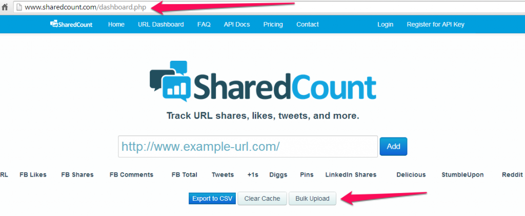 Find your social shares