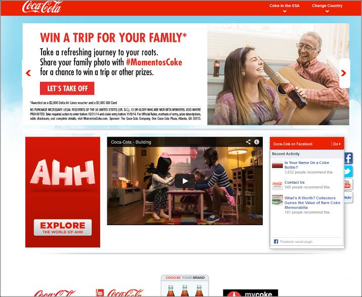 Coca Cola color scheme