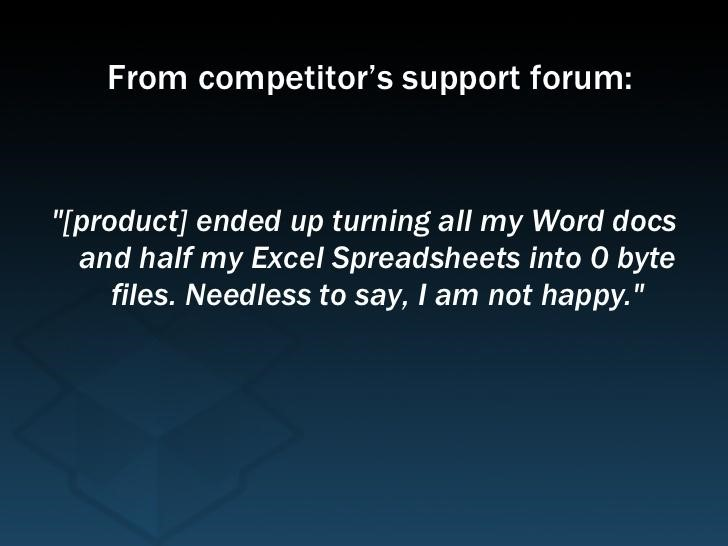 Feedback for Dropbox
