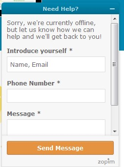How A Live Chat Widget Looks