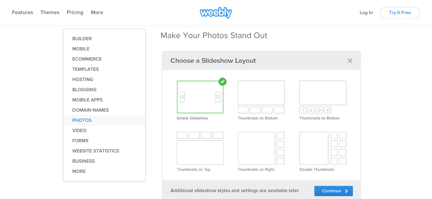 Weebly features page example (2)