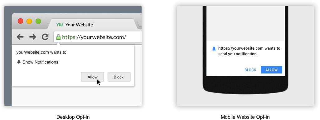 Website Notification Opt-in