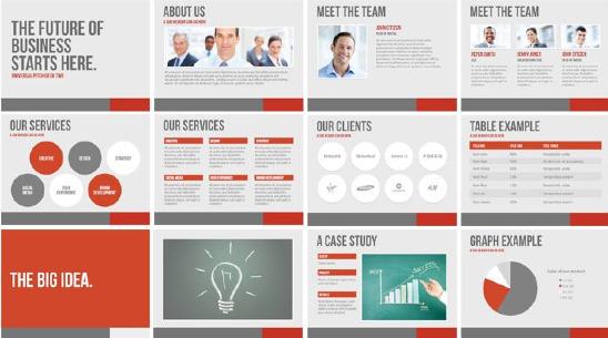 Presentation slides deck illustration repetition in design