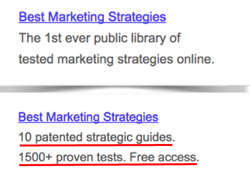 Trust proof in search ad copy (2)