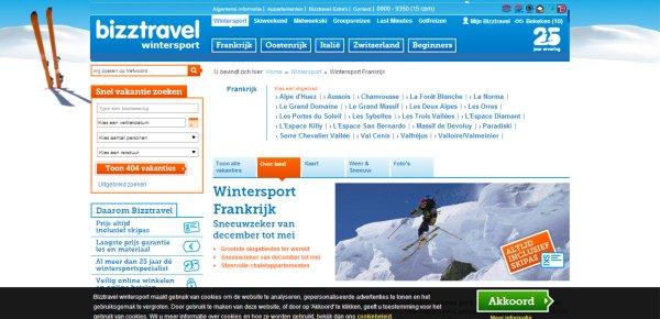 bizztravel control page