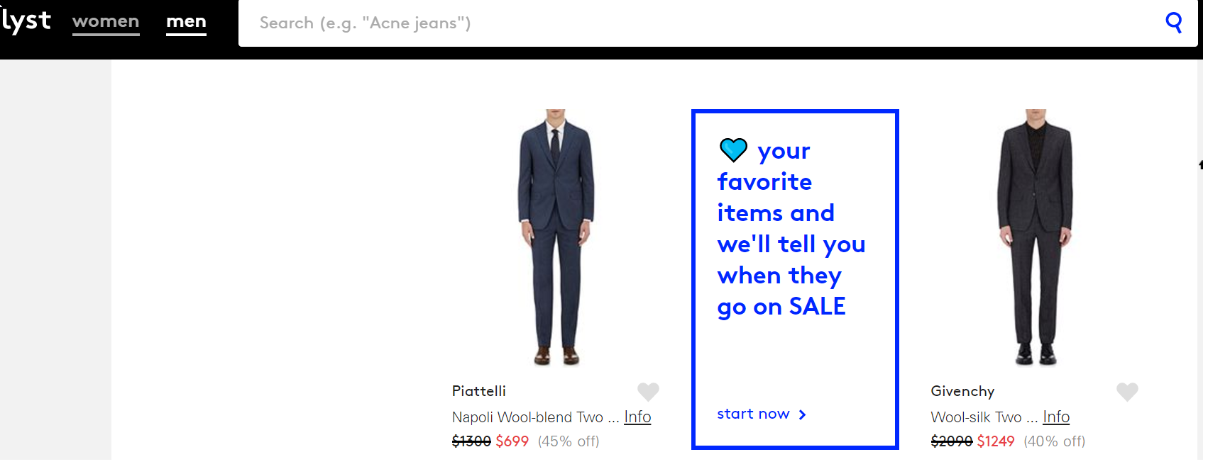Tagging specific products on a fashion website
