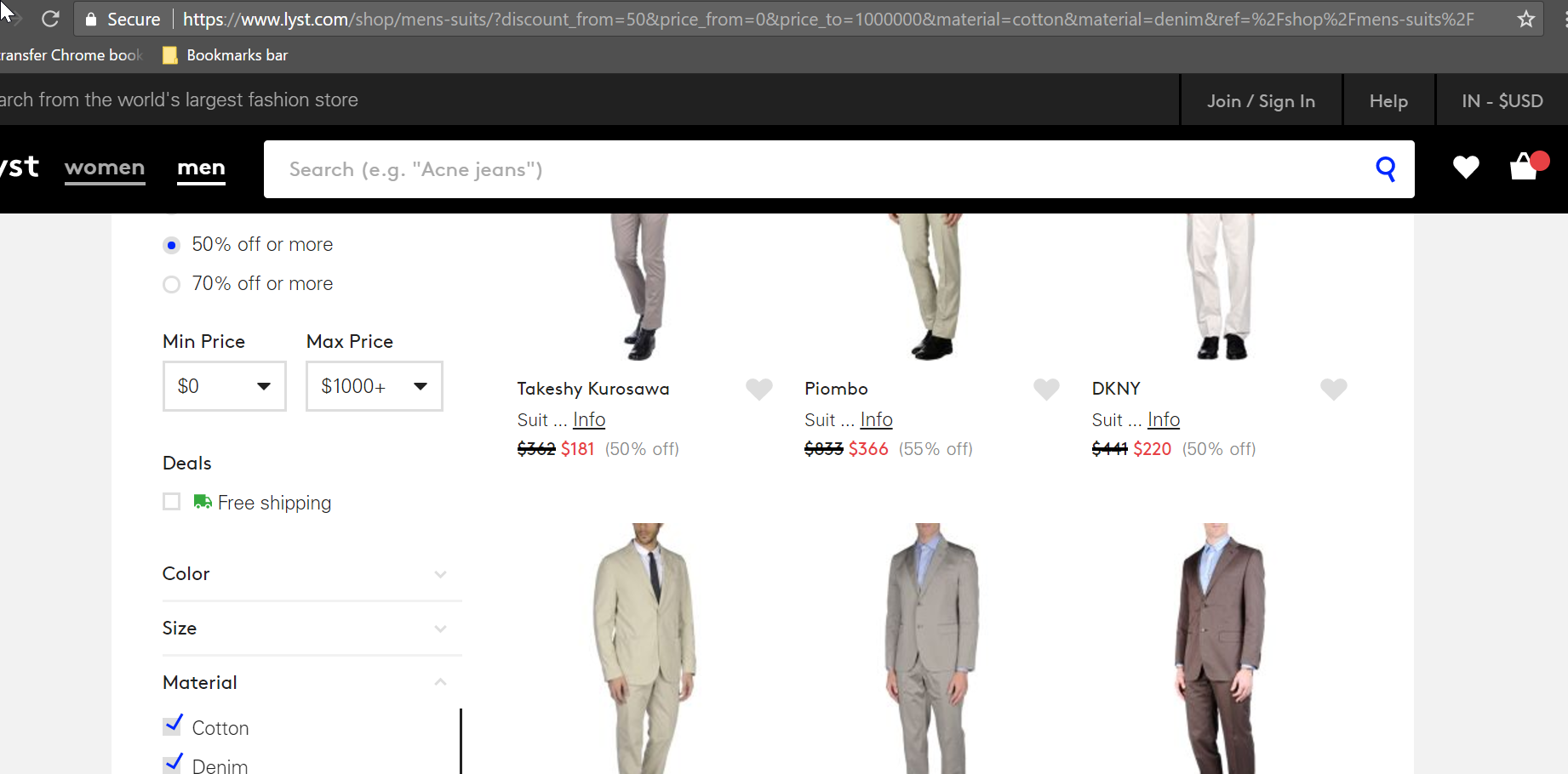 Filters for easy search on fashion ecommerce websites