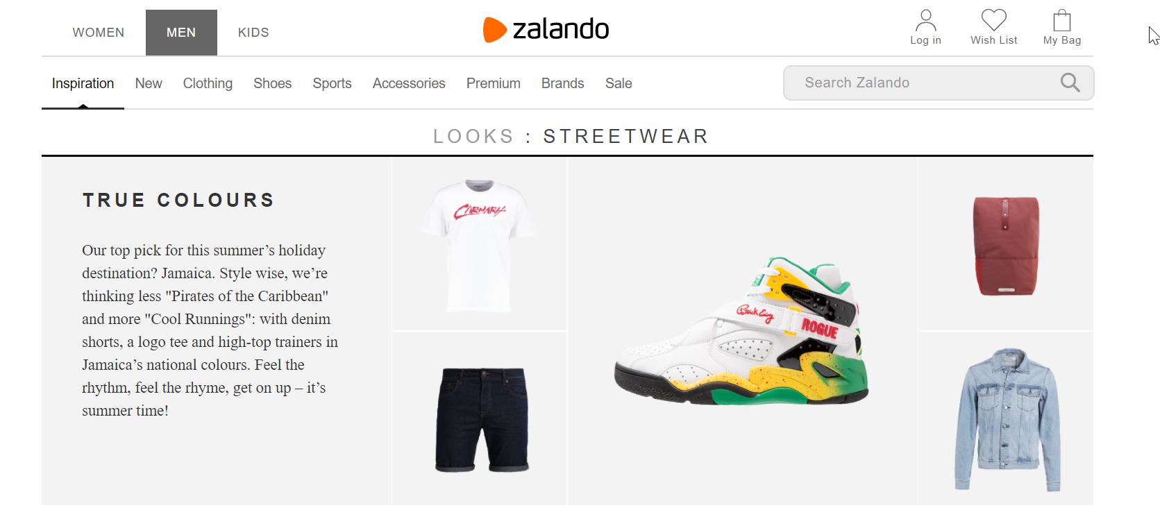 Cross-selling idea for fashion ecommerce
