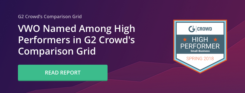G2 crowd report -top performing a/b testing tools